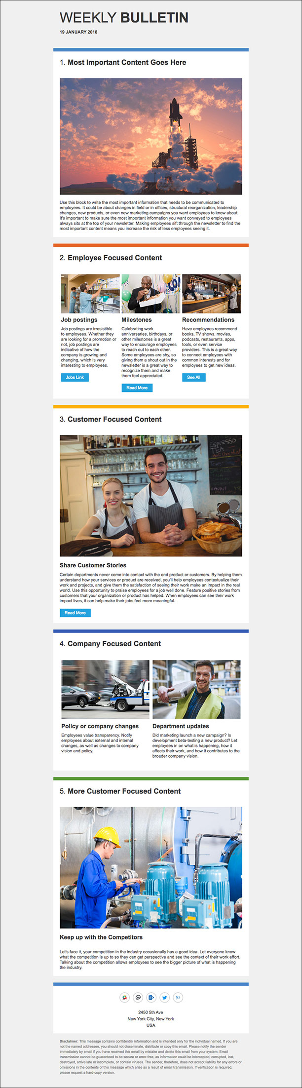 Internal Newsletter Templates For Outlook That Employees Will Love - Internal email newsletter templates