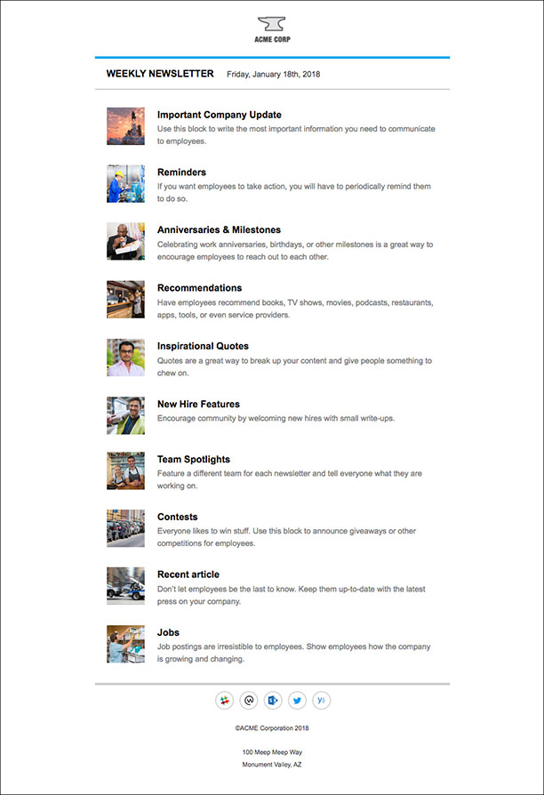 Internal Newsletter Templates For Outlook That Employees Will Love - Employee newsletter templates