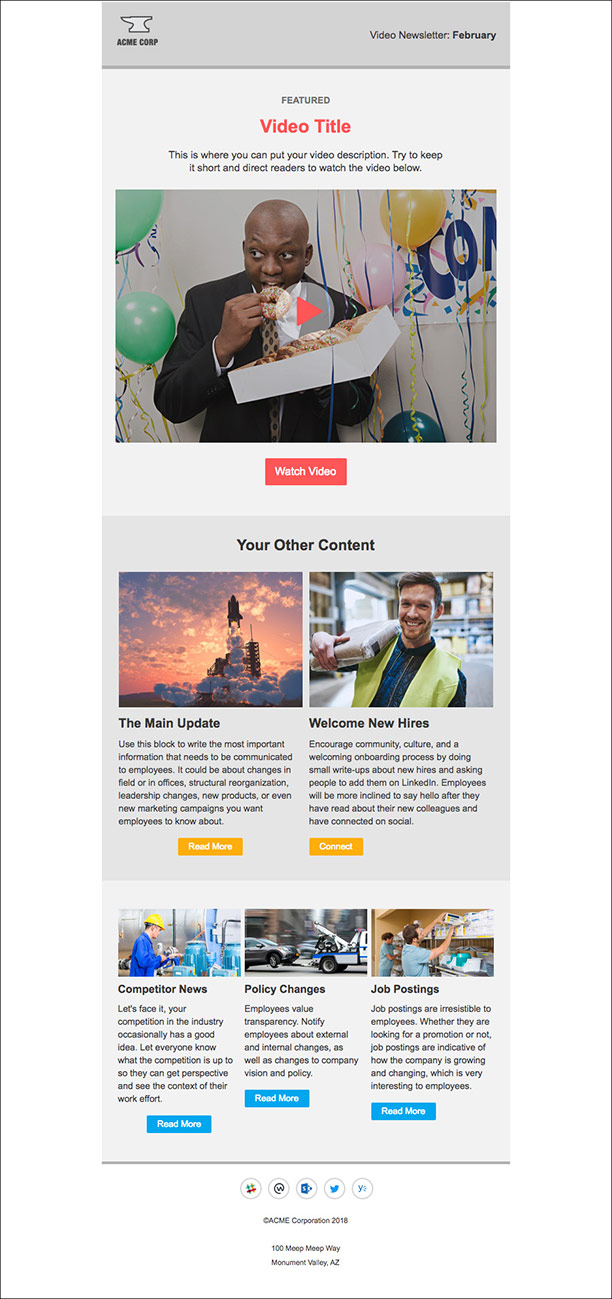 5 internal newsletter templates for outlook that employees will love. Black Bedroom Furniture Sets. Home Design Ideas