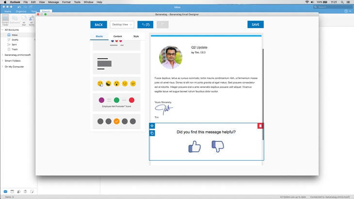New Bananatag For Employee Comms On Outlook 365 For Communicators