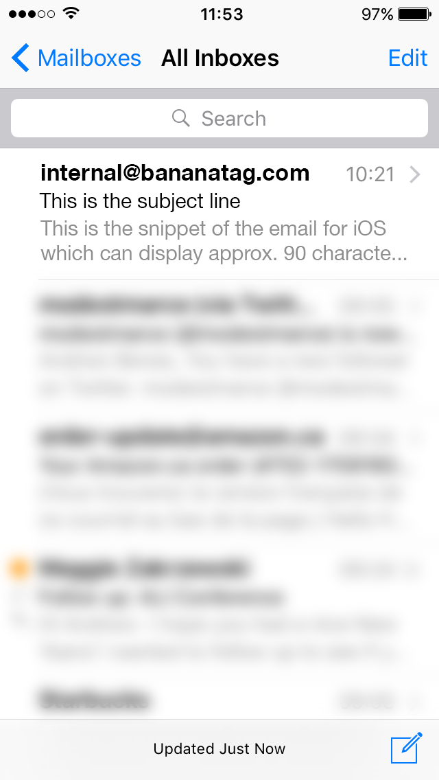 iOS Internal Email Snippet