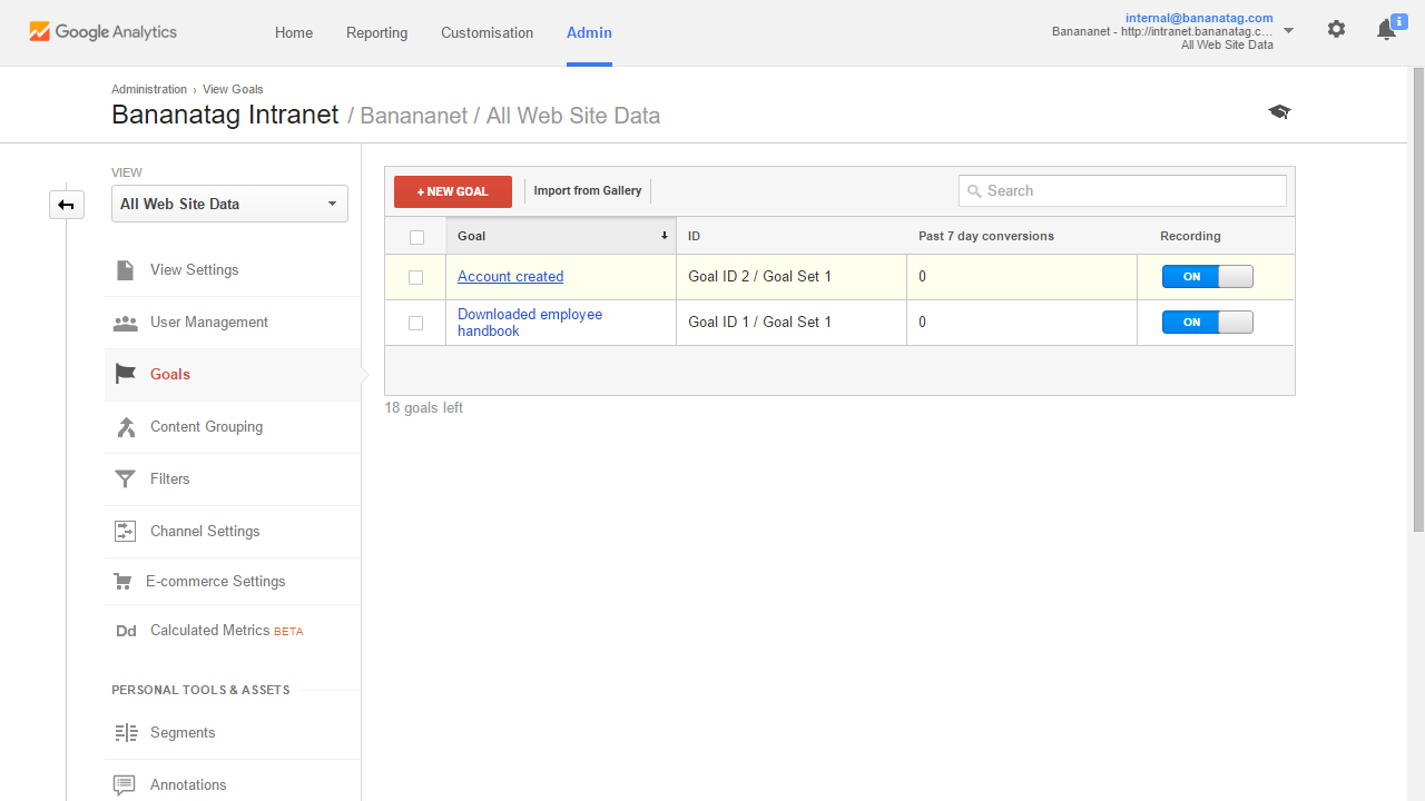 Google Analytics how to set up goals step 7
