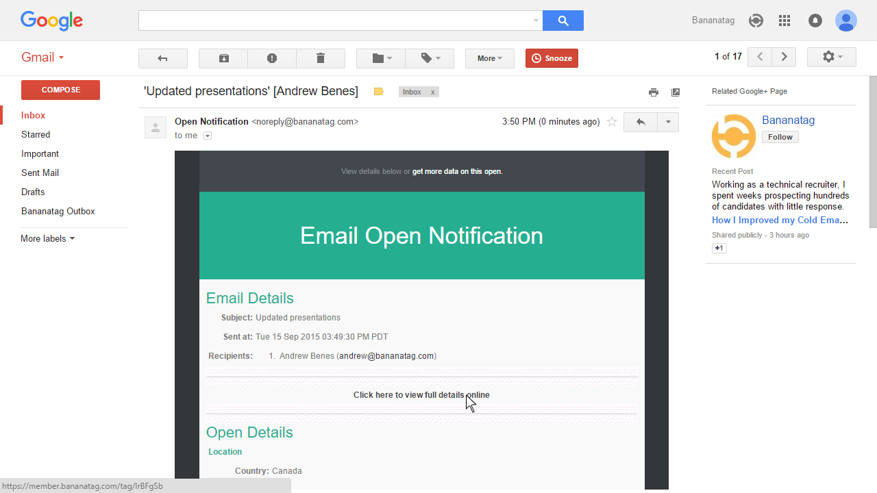 How to track attachments in Gmail Step 3