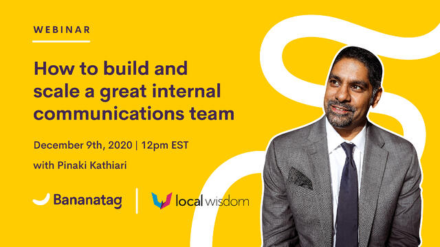 [Webinar] How to build and scale a great internal communications team