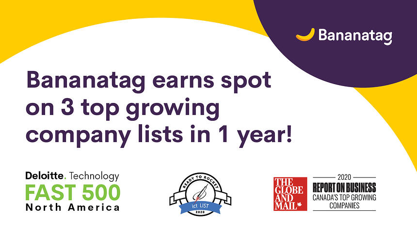 Bananatag Earns Spot on 3 Fast-Growing-Company Lists in a Single Year!