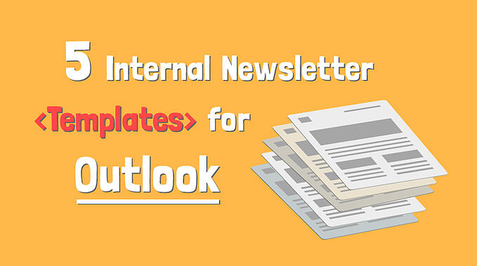 5 Internal Newsletter Templates for Outlook that Employees will love