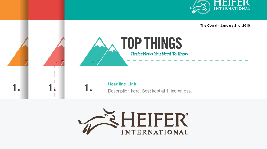 How Heifer International Relaunched the Employee Newsletter for their 75th Anniversary